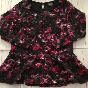 Rafaella Floral Lace Pelpum Top